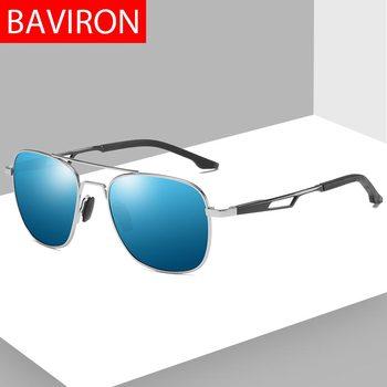 b58f4d68f5 Gafas de sol BAVIRON men gafas de sol cuadradas polarizadas rectangulares  protección UV hombre gafas de sol clásicas Retro Matel Drive gafas de sol