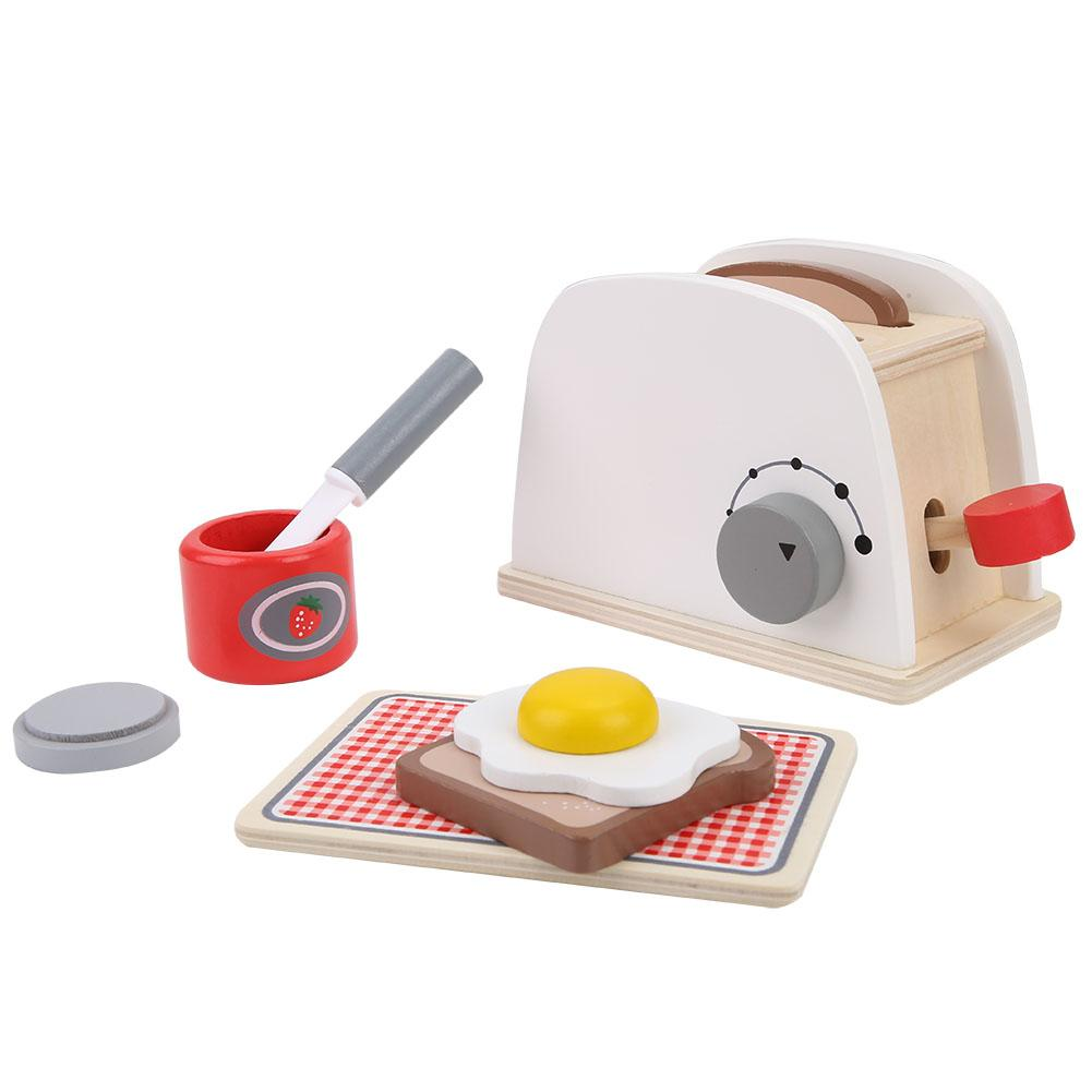 Us 16 38 23 Off Estink Wooden Popup Toaster Kids Toy Pretend Play Kitchen Set With Accessories In Kitchen Toys From Toys Hobbies On Aliexpress Com