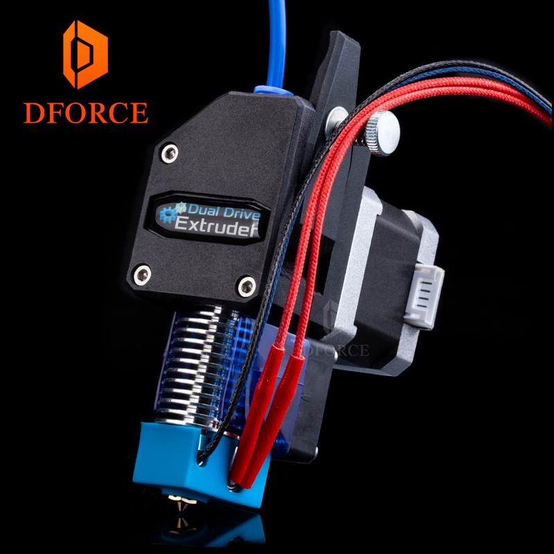 DFORCE MK8 Bowden Extruder BMG extruder + V6 HOTEND Dual Drive Extruder for 3d printer High performance for I3 3D printer