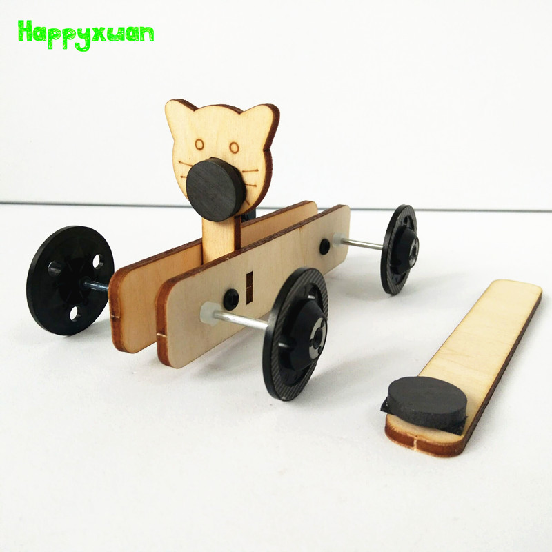 Happyxuan DIY STEM Kits Car Physics Magnet Science Experiments Kids Invention Learning Toys Assemble Educational Creative Lab