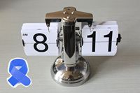 New SODIAL(R) Retro Flip Down Clock Internal Gear Operated White + Free Cable Tie