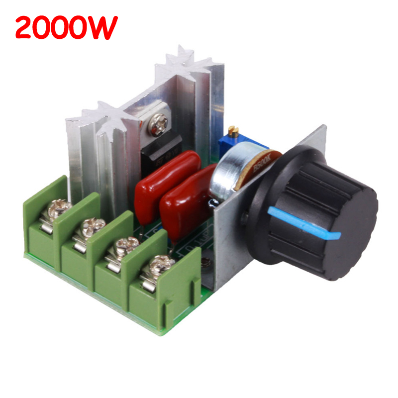 AC 220 В 2000 Вт SCR регулятор напряжения диммеры Диммеры Регулятор скорости двигателя термостат электронный регулятор напряжения модуль Регуляторы напряж./стабилизаторы      АлиЭкспресс