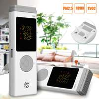 Real Time HCHO TVOC PM2.5 Formaldehyde Detector Detects Testing Record Analyzed USB Charging Monitor Air Quality for Home Office