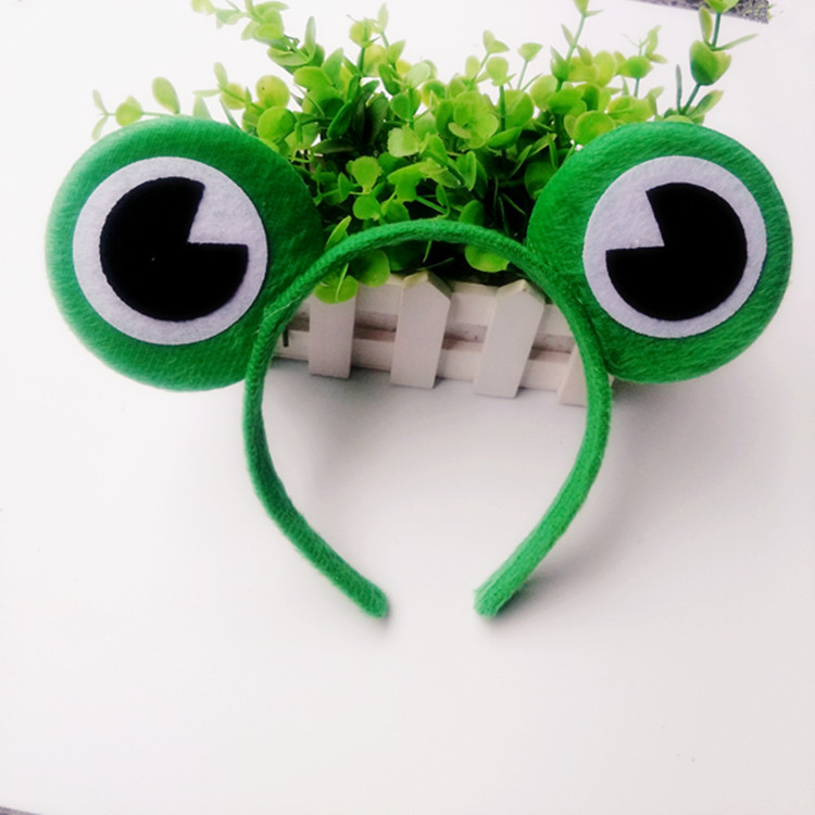 2019 Latest Design Cute Women Travel Frog Big Eyes Hairband R Ribbon Candy Headband Hoop Hairbands Party Girl's Hair Accessories