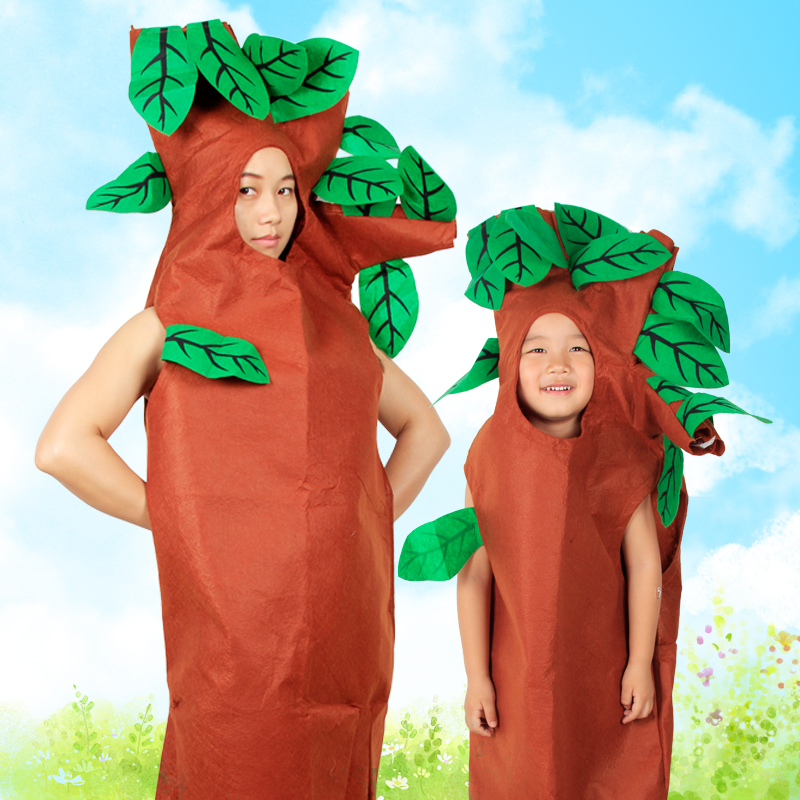 Pre Dressed Christmas Trees: Tree Costume For Adult Child Halloween Party Activities