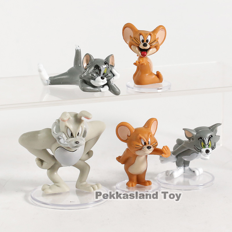 NEW Tom and Jerry Figure Cartoon Movable Decoration Statue Anime Model Gift Car
