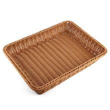 Bread Basket,Rectangle Imitation Rattan Bread Basket,Food Serving Baskets,Restaurant Serving/Diplay Baskets For Fruit Food Veg food serving trolley for indian marriage halls