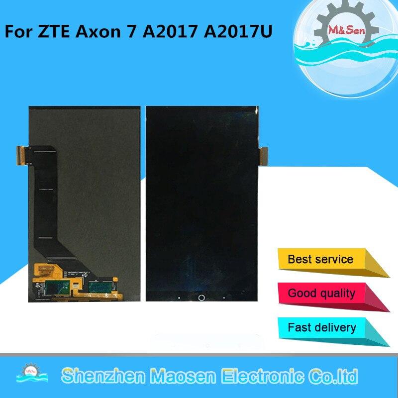 """オリジナル M & センため 5.5 """"ZTE Axon 7 A2017 A2017U A2017G AMOLED Lcd スクリーンディスプレイ + タッチパネルデジタイザ  グループ上の 携帯電話 & 電気通信 からの 携帯電話用液晶ディスプレイ の中 1"""