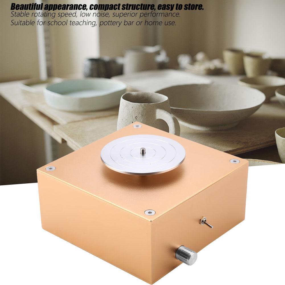 Nouveauté 12 V 1500 tr/min argile faisant la Machine de poterie en céramique bricolage artisanat 100-240 V polymère pâte à modeler outils