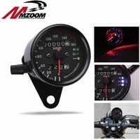 Universal Motorcycle Speedometer 12v Motorcycle Parts Odometer Dual Speedometer LED Indicator Dashboard Suitable