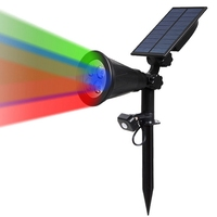 Solar Powered Garden Lamp RGB 4 LED PIR Motion Sensor Lawn Light Outdoor Waterproof Yard Wall Landscape Tuinverlichting Lamp