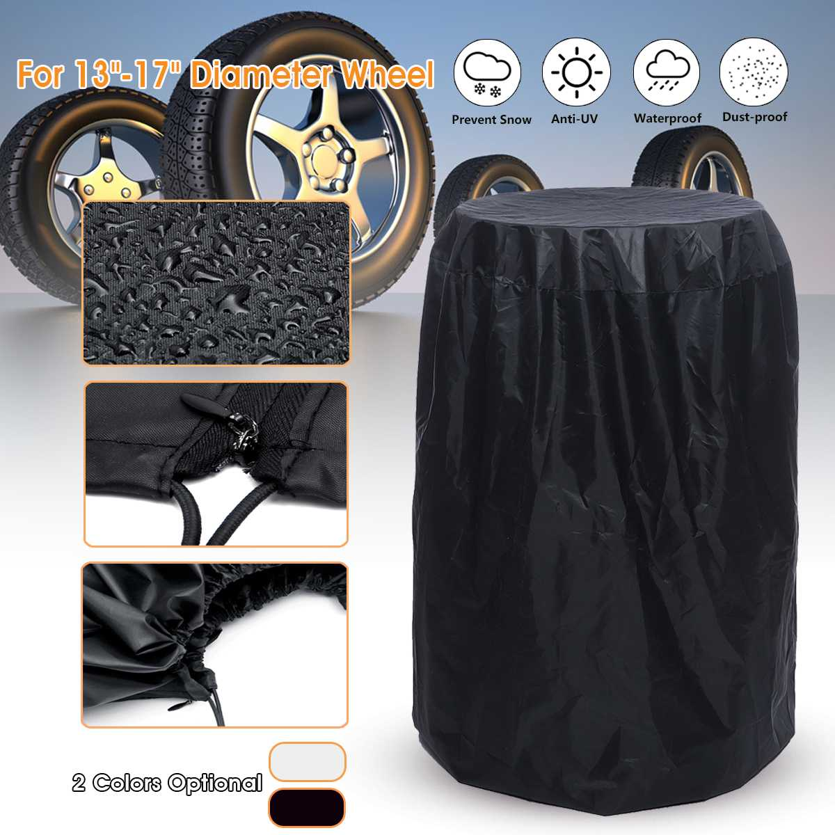 13-17 Diameter Car Tire Cover Spare Wheel Covers Protection with Storage Bag for RV Trailer Truck Waterproof13-17 Diameter Car Tire Cover Spare Wheel Covers Protection with Storage Bag for RV Trailer Truck Waterproof