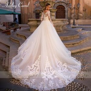 Image 2 - Ashley Carol Innamorato Sexy Lungo Del Manicotto Della Sirena Abito Da Sposa 2020 Treno Staccabile 2 In 1 Abiti Da Sposa In Pizzo Vestido De noiva