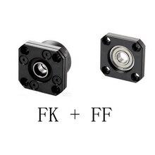 1 комплект FK10, 12, 15, 20, 25 30 FF10, 12, 15, 20, 25 30 фиксированный термополированное поддерживает подшипник крепления для шариковый винт SFU1204 1604 1605