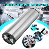Portable 150PSI 12V Auto Car Air Compressor Bicycle Silver Tire Tyre Inflator Pump Auto Air Compressor with Display New
