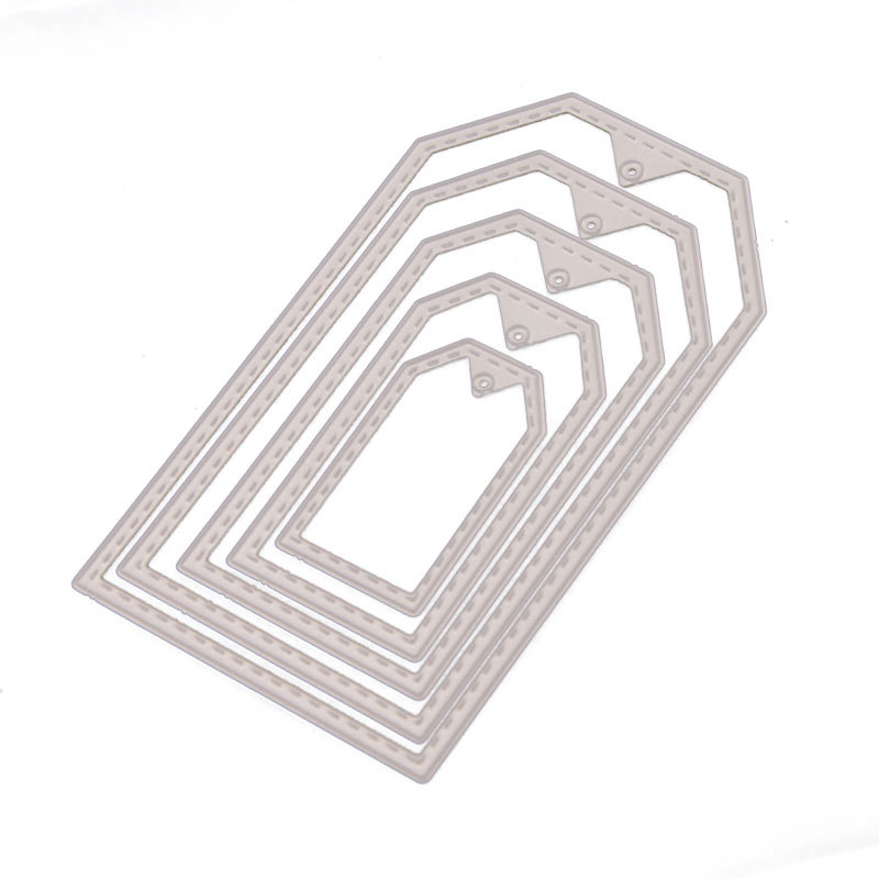 5Pcs/set Label Frame Cutting Dies Christmas Tag Stencils for DIY Scrapbooking album Decorative Embossing Craft Cards Tool