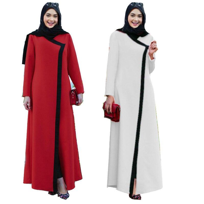 women long sleeve muslim arabic dress turkish gown Dubai moroccan Kaftan Islamic Abaya clothing