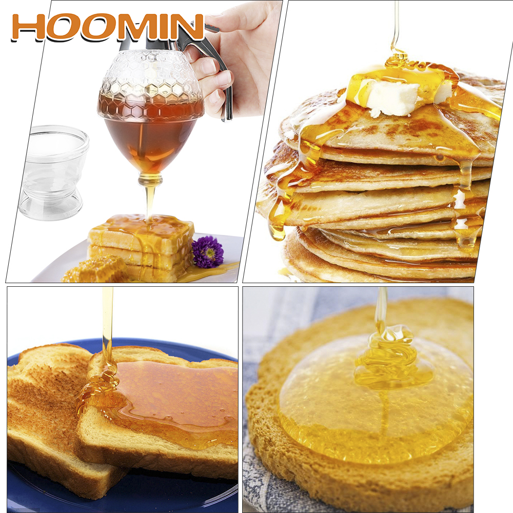 HOOMIN Juice Syrup Cup Storage Pot Stand Holder Kitchen Accessories Bee Drip Dispenser Kettle Honey Jar Container Squeeze BottleHOOMIN Juice Syrup Cup Storage Pot Stand Holder Kitchen Accessories Bee Drip Dispenser Kettle Honey Jar Container Squeeze Bottle