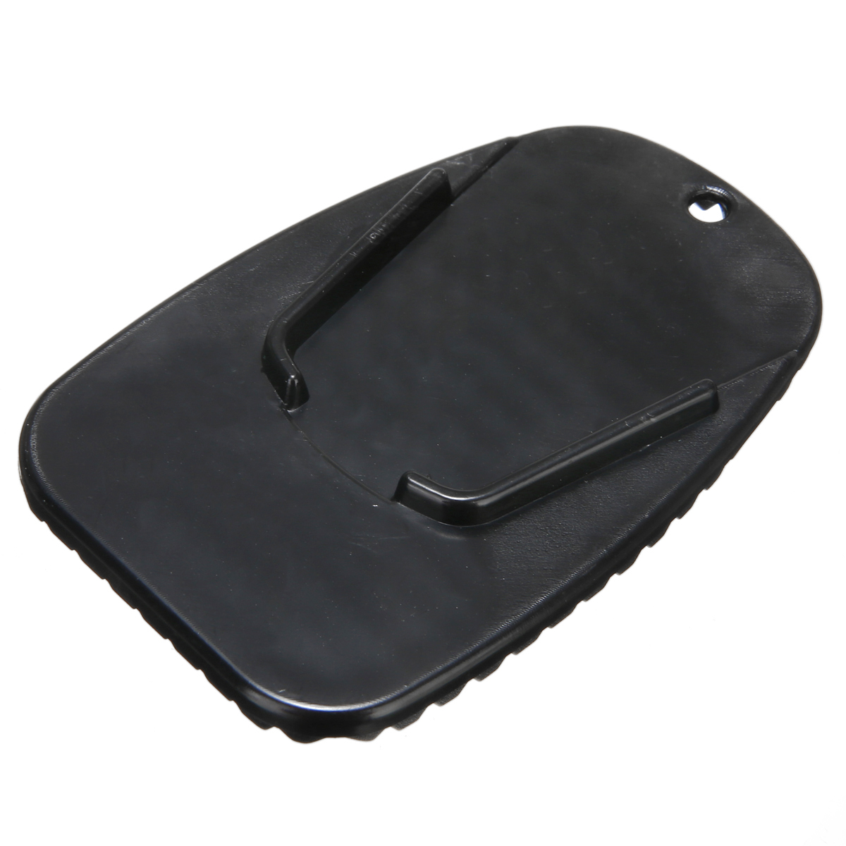 Mayitr Black Motorcycle Plastic Kickstand Side Kick Stand Pad Plate Base Universal For Yamaha Honda Motorbike Parking