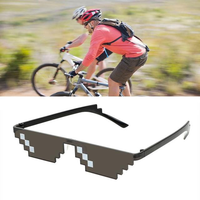 Motocycle Sunglasses UV Protection 3/6 Bit MLG Pixelated Sunglasses Motocross Bike Racing Glasses Mosaic Vintage Eyewear 3