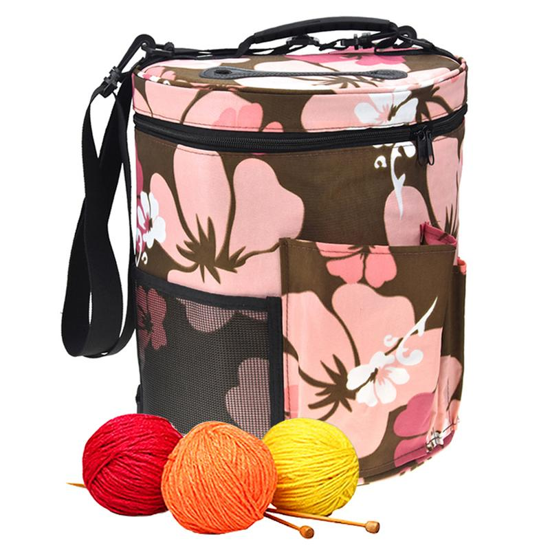 Diy Women Sewing Kit Bag Large Capacity Yarn Case Yarn Knitting Yarn Bag Household Crochet Hooks Thread Yarn Bag Arts, Crafts & Sewing Storage