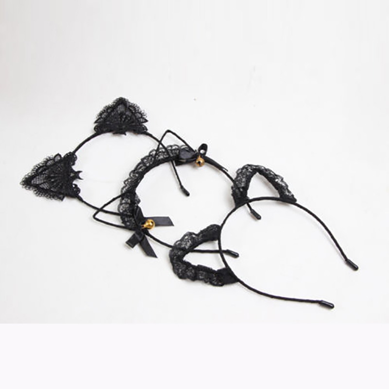 2019 Women Girls Cat Ears Headbands   Headwear   Lace Pearl Rhinestone Alloy Headband Hairband Hair Hoop Party Pageant Prom New Sale