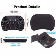 Mini 2.4GHz Wireless Keyboard Air Mouse Touchpad for PC Office Smart TV SGA998