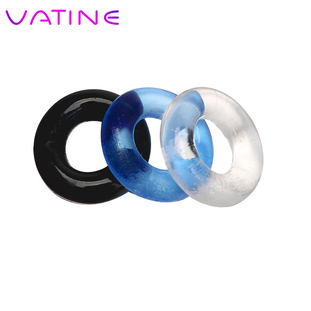 VATINE 3 Pcs/set Silicone Cock Ring Foreskin Sex Products Penis Ring Sex Toys For Men Male Penis Sleeve Delay Ejaculation