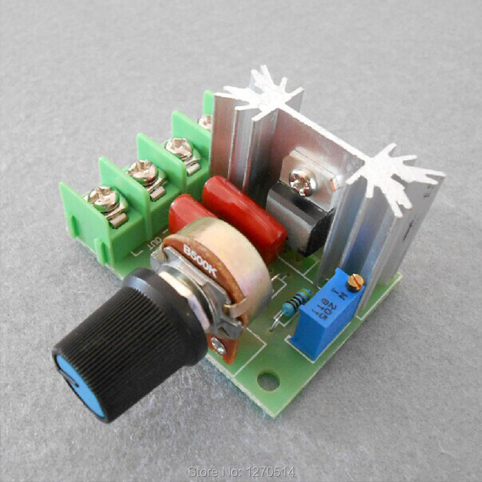 2pcs Rotary Switch 2000w High Power Electronic Voltage Regulator Picture Of How To Waterproof Circuit Boards Epoxy Method Outside Dimensions 48 Mm 55 Knob 28 Accused Silicon Pressure Up 1200 Volts Current 25 A 16 Thickening Copper Clad
