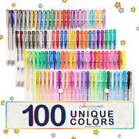 100 Colori Gel Penne Vernice Libro del Mestiere Del Regalo Per La Colorazione Bambini Pittura Disegno di Scintillio Pennarello Neon Metallic Ufficio Set