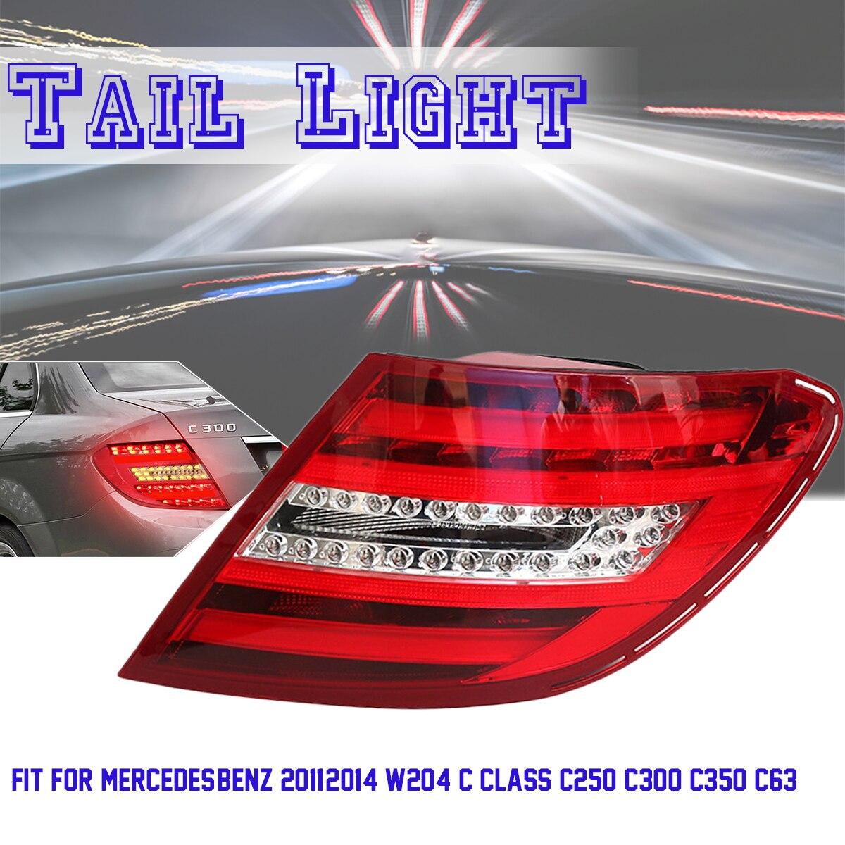 Светодиодный автомобиля задние фонари для Mercedes Benz 2011 2014 W204 C класса C250 C350 C63 ABS Пластик 12 V красный прозрачный комплект для освещения автомоби