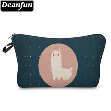 Deanfun Waterproof Llama Cosmetic Bag Durable Alpaca Makeup Bag