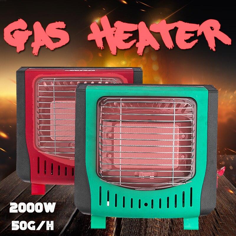 2000 W électrique extérieur Portable gaz LPG chauffage chaud Air ventilateur réglable bureau pratique hiver maison Camping randonnée campeurs plus chaud