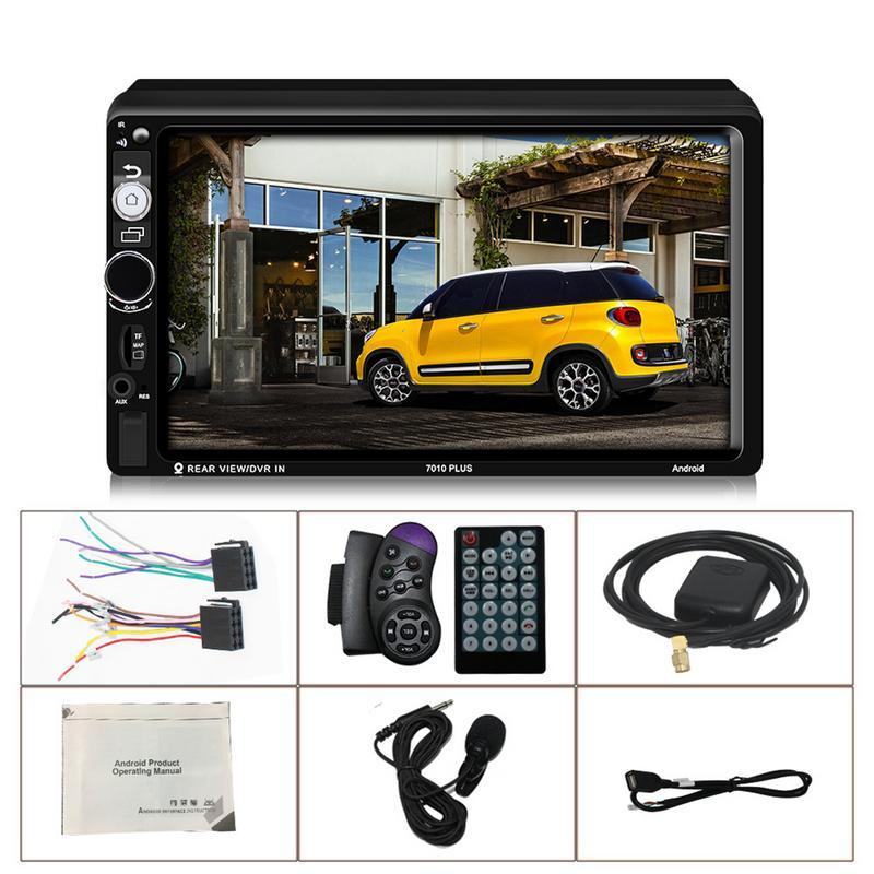 магнитолла 2 дин Android 2 Din сенсорный экран автомобильный мультимедийный MP5 плеер Android 7 система Встроенная навигация рулевое колесо управлени