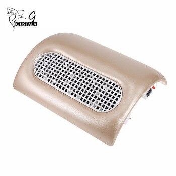 Gustala 100 V-240 V potente colector de succión de polvo de uñas máquina de manicura aspiradora herramientas de manicura con 3 ventiladores + 2 bolsas de polvo