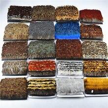 Высокое качество 1 ярдов натуральный фазан перо отделка бахрома diy Перья для рукоделия атласная лента швейные костюмы декоративные Шлейфы