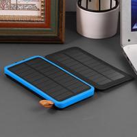 Solar Energy Portable Power Charger Dual USB External Yes 10000 mAh Battery Power Li Polymer 5V / 2A Bank