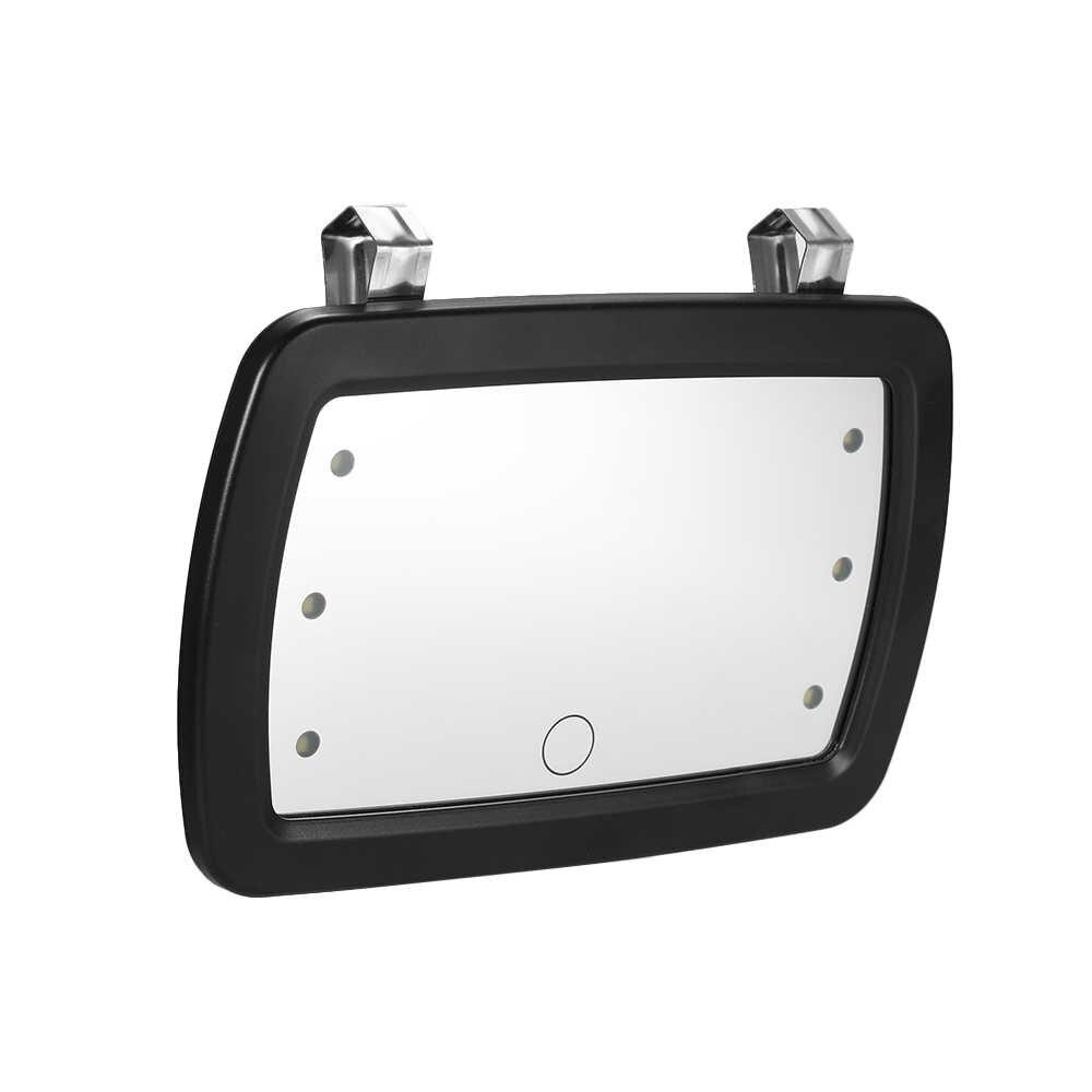 Автомобильный солнцезащитный козырек зеркало для макияжа солнцезащитное косметическое зеркало туалетное зеркало автомобильное косметическое зеркало с шестью светодиодный подсветкой
