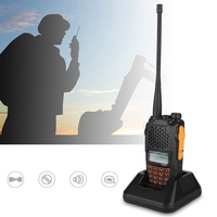 100 240V 7W UV6R Rechargeable Voice Prompt LCD Walkie Talkie 128 Channels Two Way Radio VHF 136MHZ 174MHZ UHF 400MHZ 520MHZ