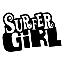 цена на Funny Surfer Girl Surf Vinyl Decal Sticker Car Window Bumper Laptop Camper Rear Window Car Sticker