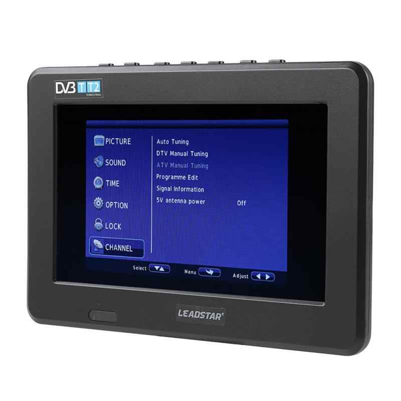 LEADSTAR 7 بوصة التلفزيون HD TFT شاشة led سيارة متنقلة صغيرة التلفزيون الرقمي الشرب دعم dvb-t DVB-T2 ATSC ISDB التلفزيون USB TF بطاقة