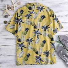 NEW Eye-Catching Hawaiian Shirts Tropical Mens Shirts Dress Short Sleeve Lapel Collar Floral Beach Vacation Clothing Summer 4XL