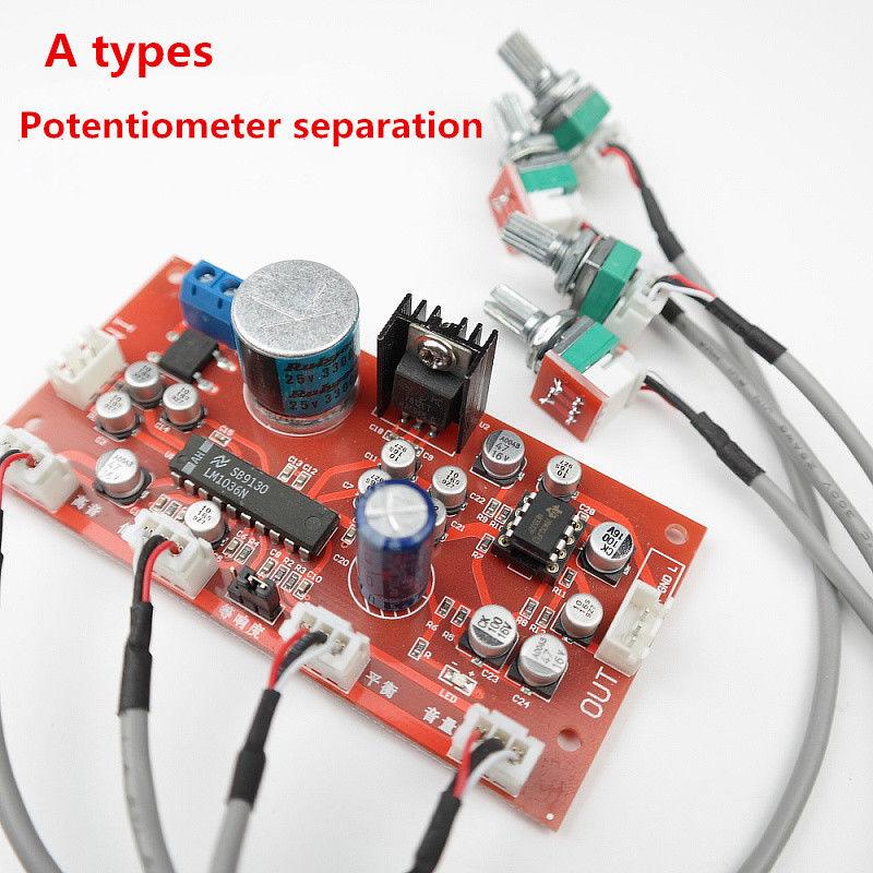 LM1036 tone + NE5532 Preamp amplifier board With treble, bass ,balance,  volume adjustment Single-supply operation DC 12-24V