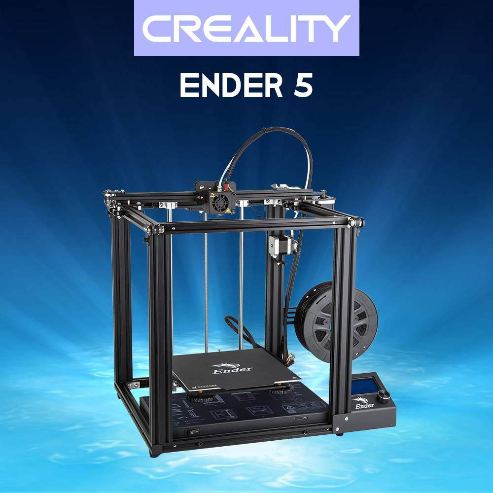 Creality 3D Ender-5 DIY 3D Printer Kit With Resume Print Dual Y-Axis Motor Soft Magnetic Sticker Support Off-line PrintCreality 3D Ender-5 DIY 3D Printer Kit With Resume Print Dual Y-Axis Motor Soft Magnetic Sticker Support Off-line Print