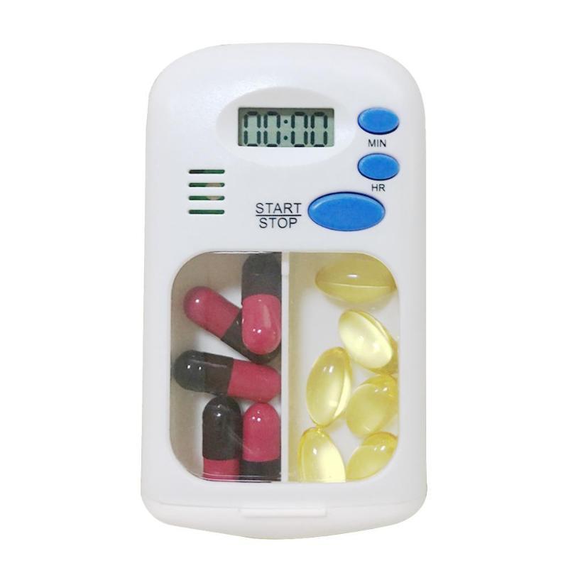 2 сетки коробка для таблеток сигнализация DIY цифровой портативный органайзер для таблеток напоминание на время портативный контейнер для х...