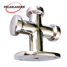 1 Pc Stainless Steel Single Cross Bollard Heavy Duty Cleat Hardware for Boat Yacht Marine