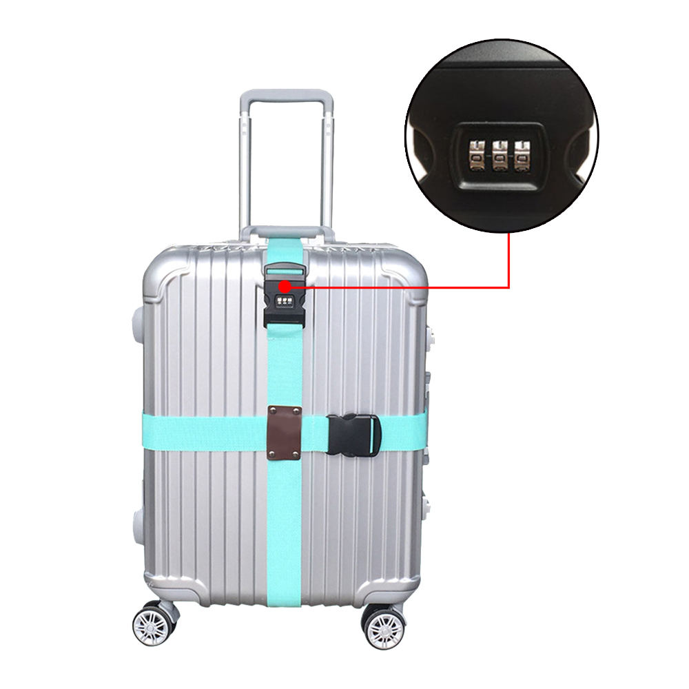 Box Tie Box Belt Luggage On Business Trip Luggage Binding Suitcase Cross Luggage Belt Packing Belt Tie With Combination Lock