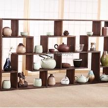 Большой размер 112x58 см, деревянная полочка для чайника, деревянная полка, чайные подносы, чайное блюдце, коллекция китайских чайных чашек