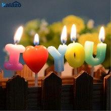 1 шт., с надписью «I Love You», свечи для дня рождения, свадьбы, дня рождения, украшения для торта для вечеринки, романтическая зубочистка, товары для рукоделия