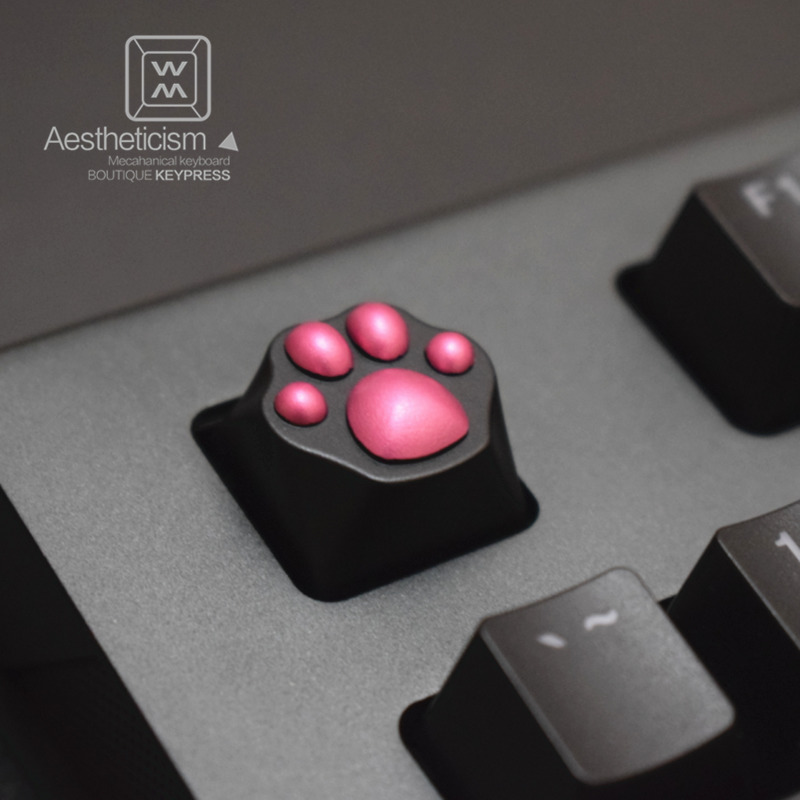 1pc Personality Anode Aluminium Alloy Keycap MX Switch R4 ESC Keycaps for Mechanical Keyboard Cat Claw Metal Key Cap h1z1 battle royale game keycap r4 height alloy full metal keyboard keycaps for cherry mx switches teclado mecanico keycaps